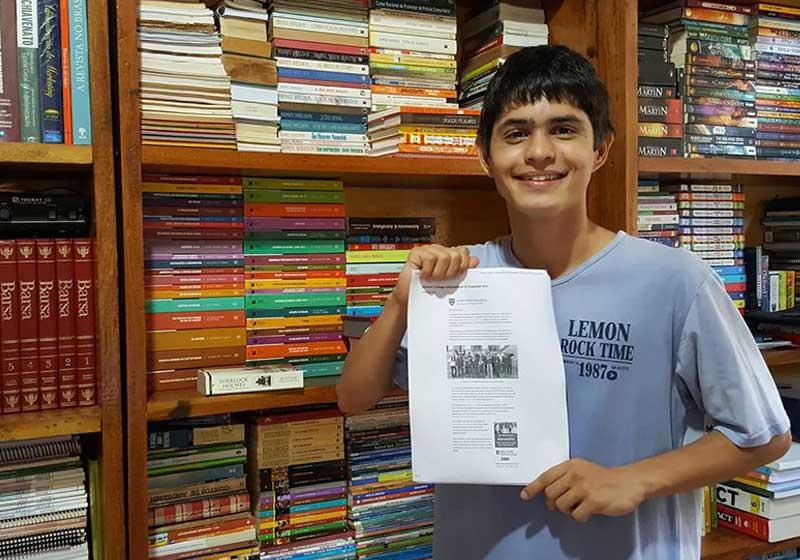 Aluno brasileiro de escola pública é aceito em Havard e em outras importantes universidades americanas