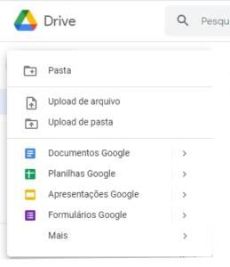 Como criar um novo documento e apresentações Google